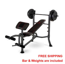 Sports Authority Bench Press Standard Bench Press With 80lbs Of Weight Plates Home Gym Workout