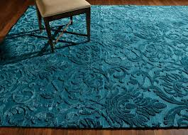 Ethan Allen Oriental Rugs Ethan Allen Jacquard Damask Rug In Turquoise Made By Hand In