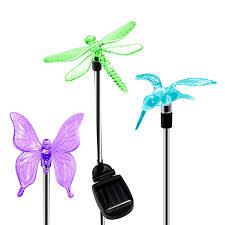 oxyled solar garden lights hummingbird butterfly u0026 dragonfly