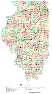 Road Map Colorado by Large Detailed Administrative Map Of Illinois State With Roads And