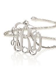 Small Monogram Necklace Silver Monogram Necklace Bestmonogramnecklace