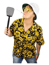 Halloween Costumes With Hawaiian Shirts by Amazon Com Fear And Loathing Raoul Duke Costume Kit Clothing