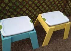 Toddler Sensory Table by Ikea Hack Lack Side Table Plastic Storage Bin U003d Diy Sensory