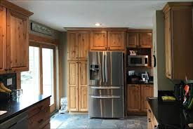 kitchen remodel with wood cabinets kitchen remodel custom wood cabinets tile floor new doors 2
