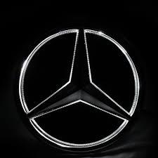 logo mercedes led emblem for mercedes benz 2011 2016 illuminated logo daytime