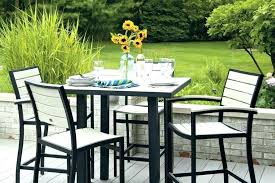 high top patio table and chairs high bistro patio set bunset club