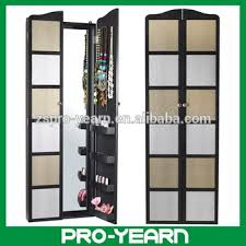 Jewelry Cabinets Wall Mounted by Wall Mounted Wooden Mirrorerd Jewelry Cabinet With Dressing Mirror