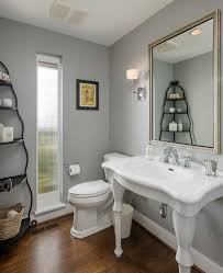 seattle bath etagere powder room traditional with wood floor