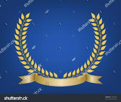 leaf ribbon crest emblem made detailed gold leaf stock vector 17007205