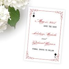 save the date invitation las vegas wedding invitations save the date