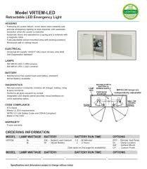 nfpa 101 emergency lighting retractable led emergency light following ac power failure cover