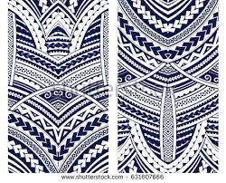 set maori style ornaments ethnic themes stock vector 631607666
