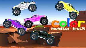 monsters truck videos monster truck videos learning colors kids learning videos