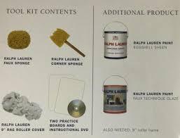 ralph lauren paint sponging u0026 ragging faux painting tool kit