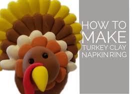 thanksgiving napkin rings craft easy turkey clay napkin ring youtube
