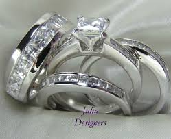 cheap his and hers wedding rings wedding rings wedding ring trio sets his and hers matching