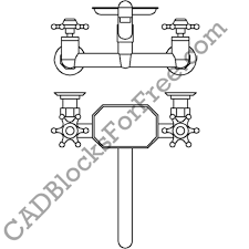 kitchen faucet cad block regarding influence your home design