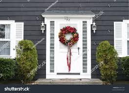 christmas wreath on front door stock photo 5567710 shutterstock