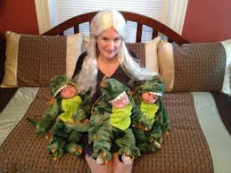Family Halloween Costume With Baby by My Sister Had Triplets This Year Went With Queen Of Dragons For