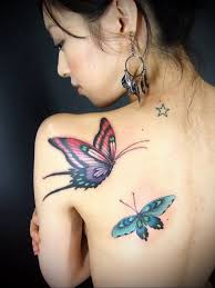 butterfly tattoo for back 40 exotic colourflul butterfly tattoo tattoozza