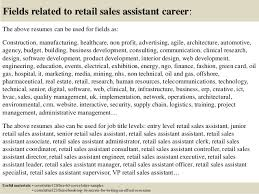 Sample Resume For Retail Sales Associate by Sample Resume Of Retail Sales Assistant