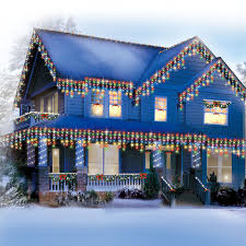 200 count multi colored icicle lights at home at home
