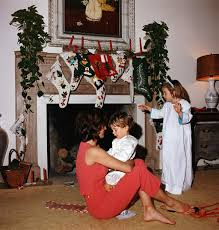 Kennedy Jacqueline The Kennedys On Christmas Morning Christmas Pictures History