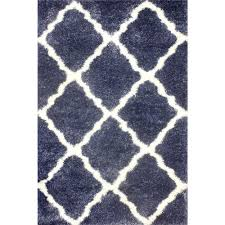nuloom moroccan trellis shag denim 5 ft 3 in x 7 ft 6 in area