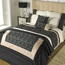 Gold And Grey Bedroom by Bedroom Riva Elise Black And Gold Bedding With Black Bedside Lamp