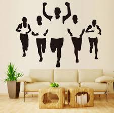 169 Best Wall Decals Images by Aliexpress Com Buy Hollow Out Design Five Men Marathon Running