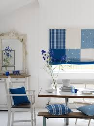 fresh classic blue and white kitchen swedish blinds made with a