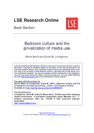 bedroom culture and the privatization of media use pdf download bedroom culture and the privatization of media use pdf download available