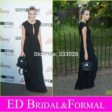 cara delevingne black dress at 2014 serpentine gallery party cap