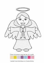 nativity colouring pages