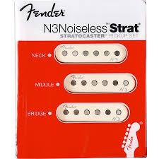 fender n3 noiseless strat pickups set 3 pickups reverb
