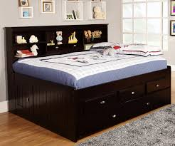 espresso full size bookcase captain u0027s day bed with trundle day