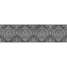 Decorative Wallpaper Borders Fine Decor Glitz Ornamental Damask Glitter Wallpaper Border Black