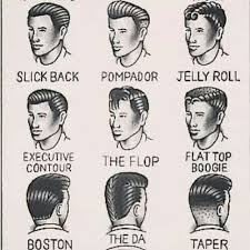 drawings of 1950 boy s hairstyles different 50s style hair for men 50 s pinterest rockabilly