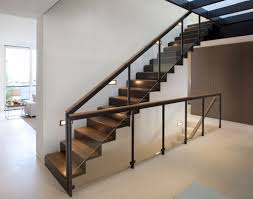 Glass Banister Staircase Furniture Uncategorized Minimalist Black Straight Stairs With