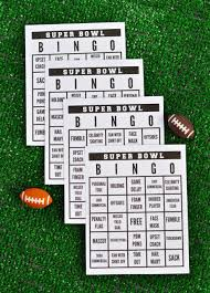 Halloween Bingo Free Printable Cards by Super Bowl Party Free Printable Super Bowl Bingo Make Life Lovely