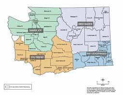 Map Washington State by Washington State Conservation Commission Regional Manager Map