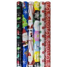 gift wrapping paper rolls jam paper christmas gift wrapping paper set assorted rolls of