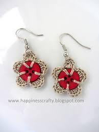 button earrings ravelry button earrings pattern by happinesscrafty