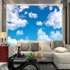 Schlafzimmer Tapete Blau Online Shop Blau Himmel Wolke Decke Wandbild Tapete Wohnzimmer