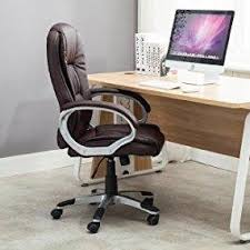 Computer Chair Desk Amazon Com Bellezza Ergonomic Office Pu Leather Chair Executive