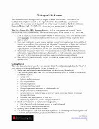 mba application resume format mba application resume unique 13 luxury resume format for mba