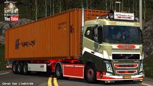 volvo truck sleeper cabs ets2 v1 24 volvo fh sleeper rl container service youtube