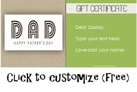 free printable father u0027s day gift cards customize online