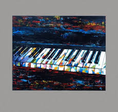 piano painting original abstract music painting acrylic on art