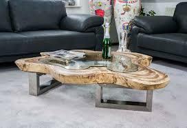 Wohnzimmertisch Holz Couchtisch Glas Holz Edelstahl Rheumri Com
